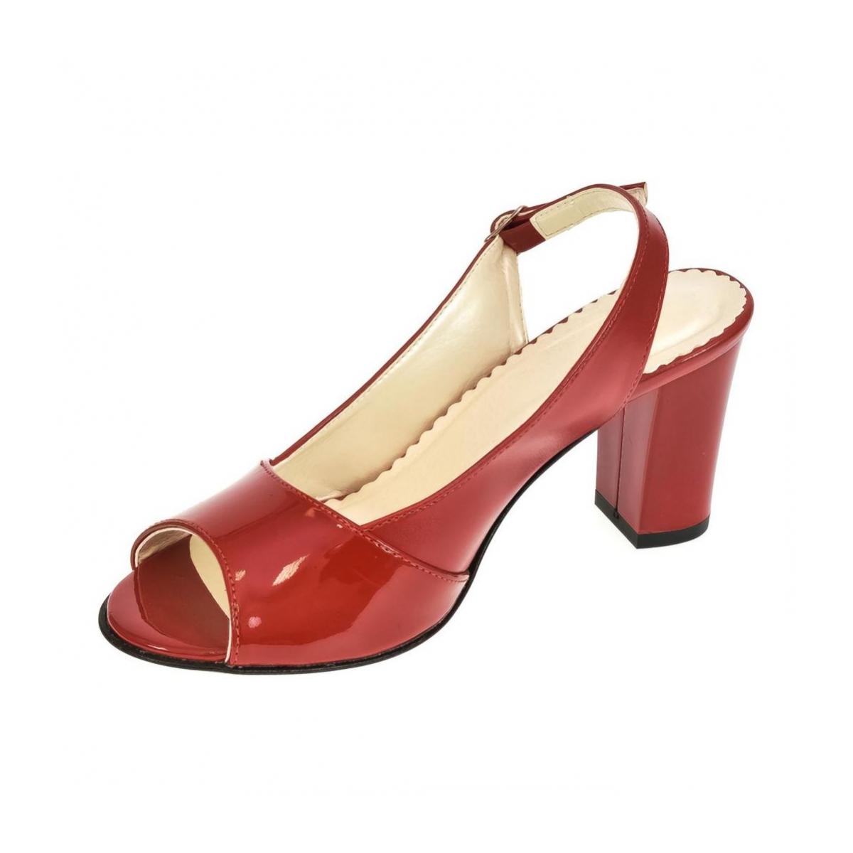 93a267311727 Dámske červené sandále SAINA - 6