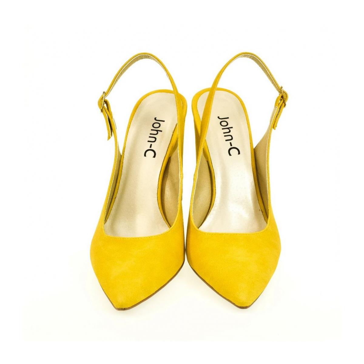 310f8fa21c Dámske žlté sandále ELISSA - 2