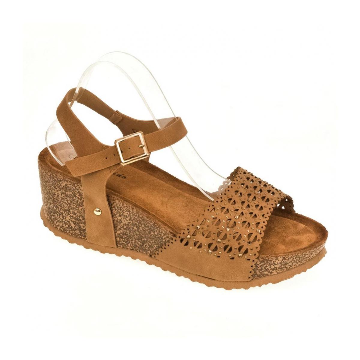 58381764cc Dámske hnedé sandále SHARI - 4