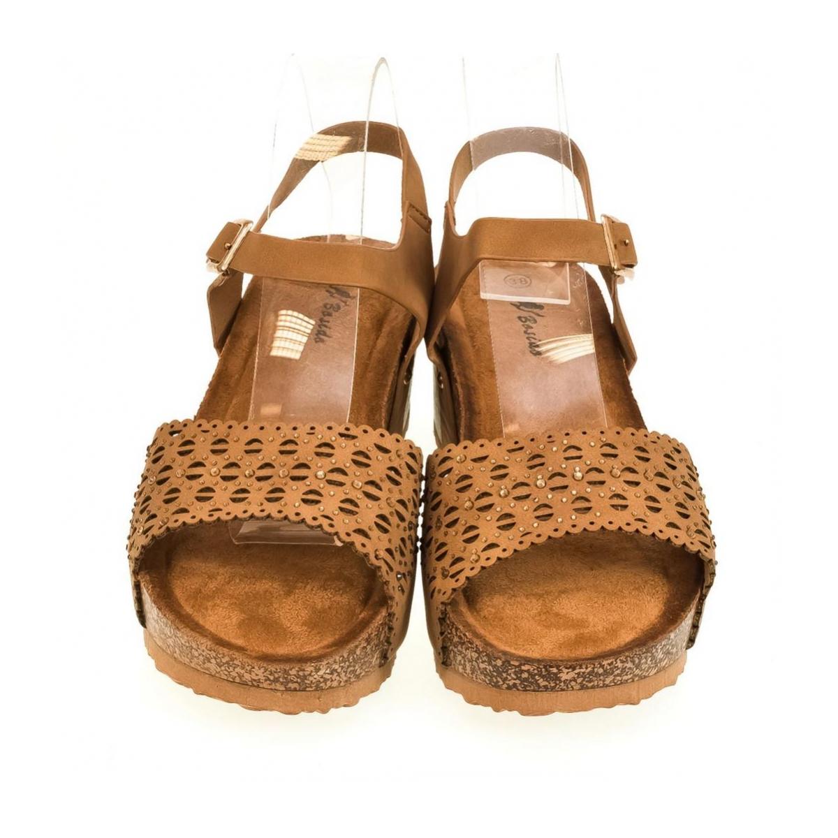 cda6a5a957 Dámske hnedé sandále SHARI - 2