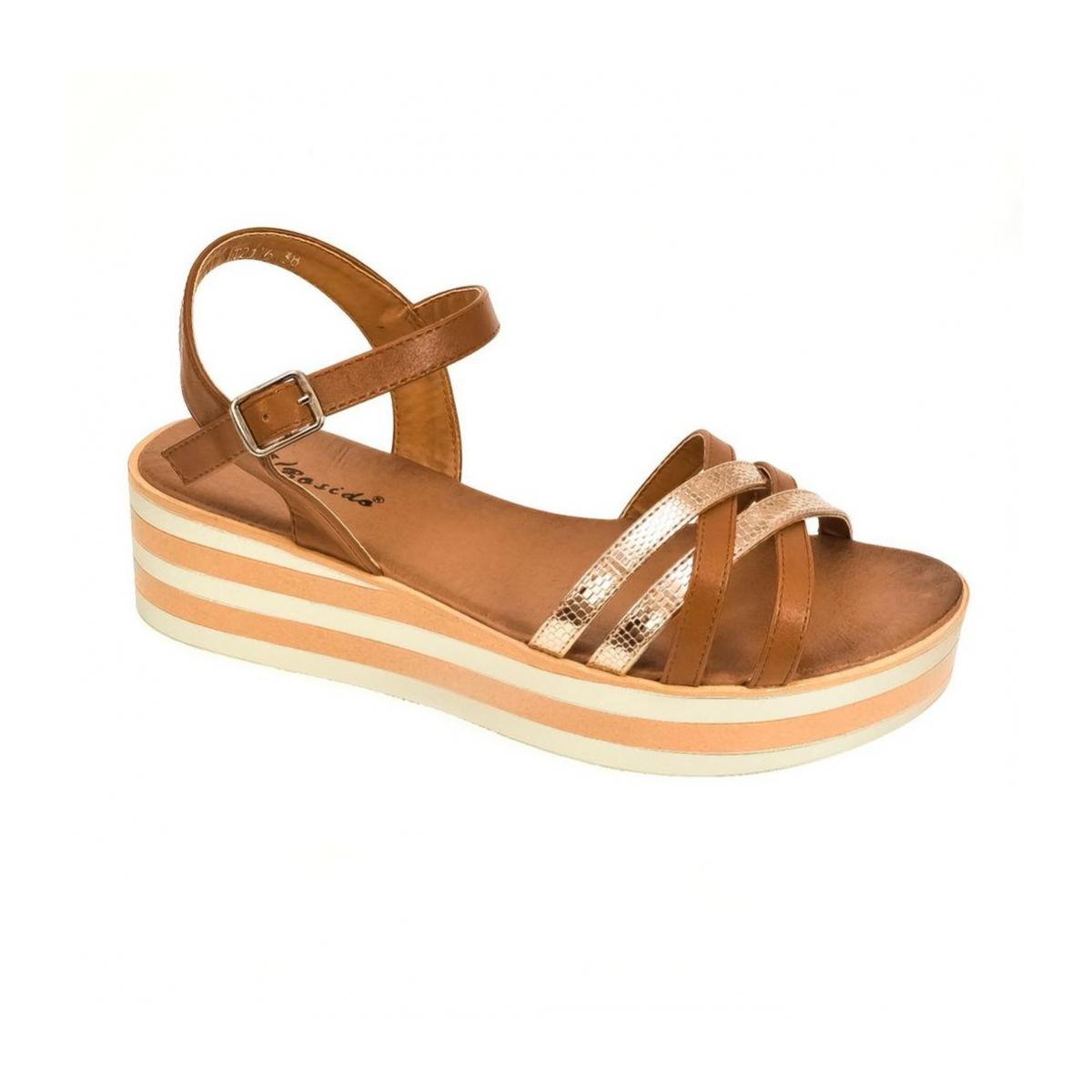 6317b31abd Dámske hnedé sandále DICI - 4