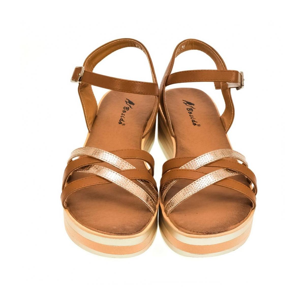 e00cc99f8e Dámske hnedé sandále DICI - 2