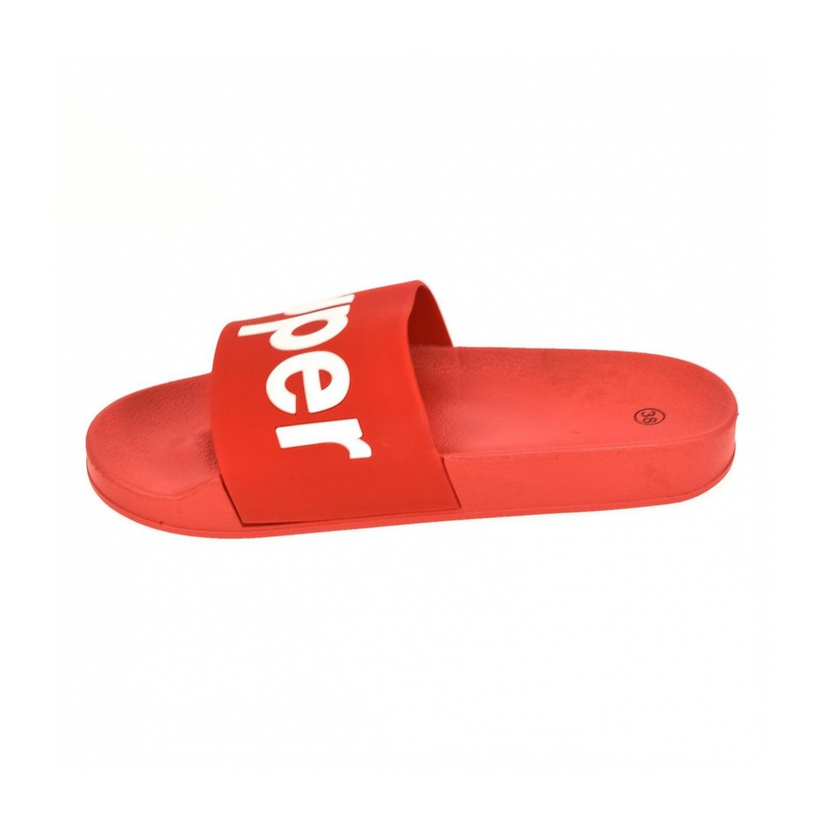 5e8a280ffb22 Dámske červené šľapky SUPER - 5