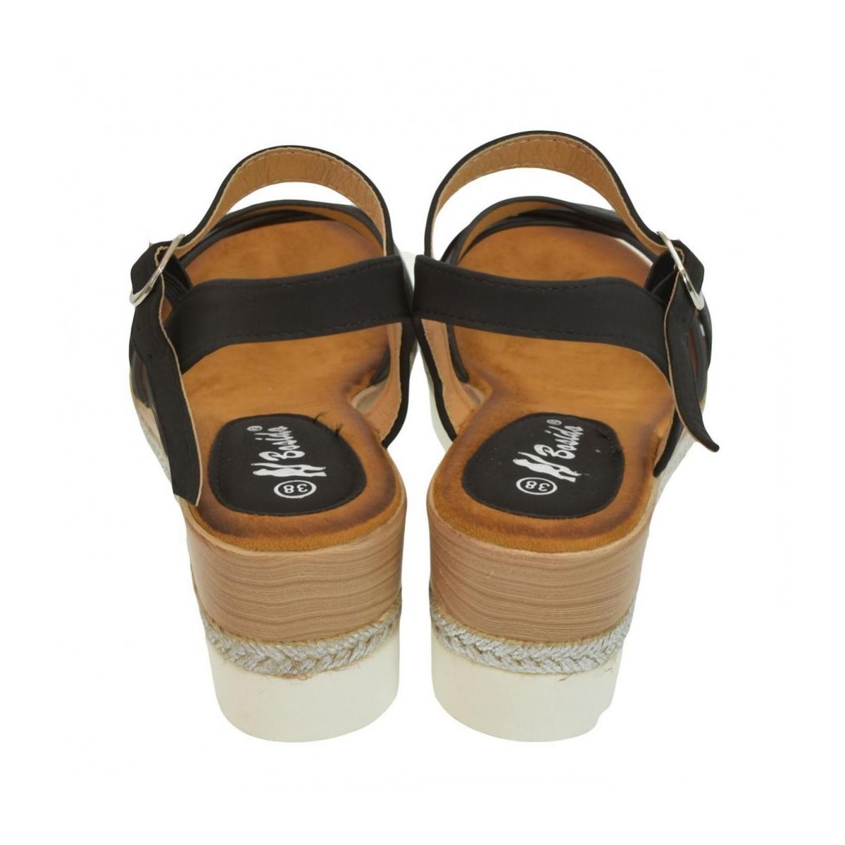2c7e4df230f1 Dámske čierne sandále RILLA - 3