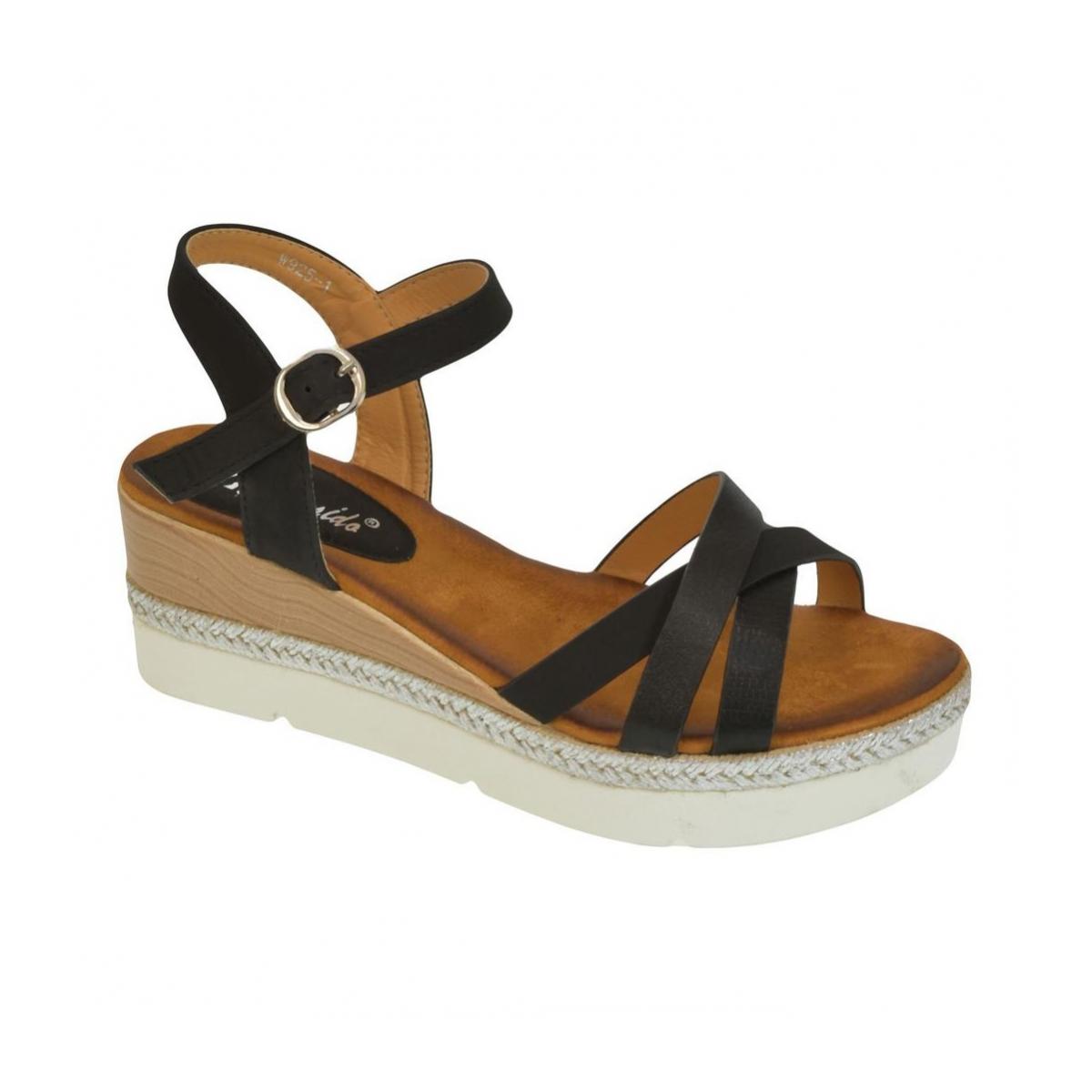 d870b8ddb5ee Dámske čierne sandále RILLA - 4