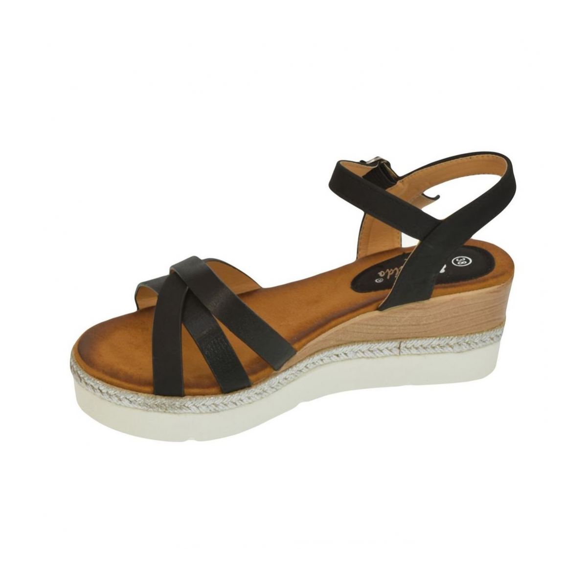 785939787958 Dámske čierne sandále RILLA - 5