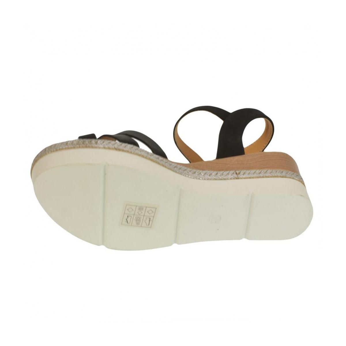 9d92a462a953 Dámske čierne sandále RILLA - 6