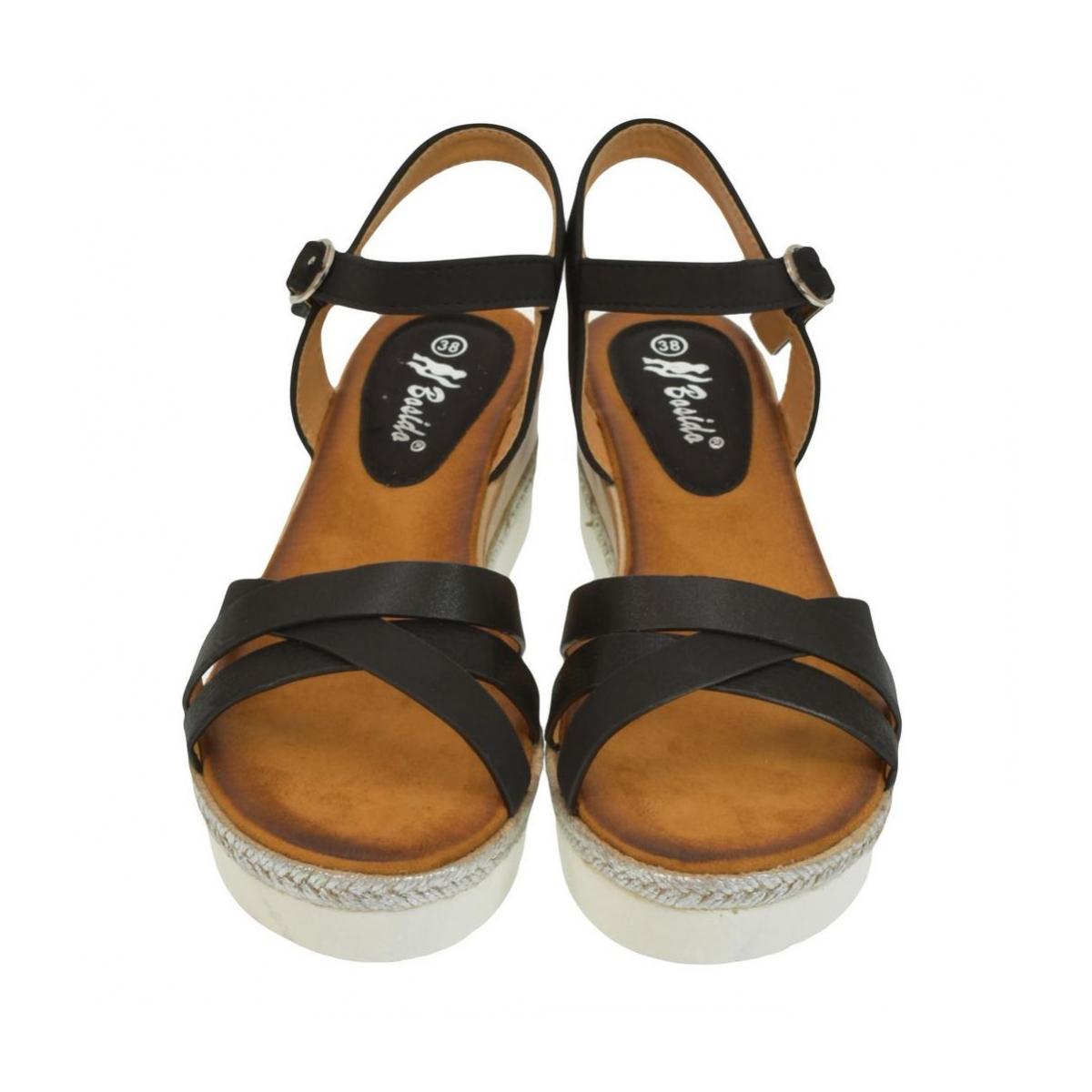 4c0e86de29cc Dámske čierne sandále RILLA - 2