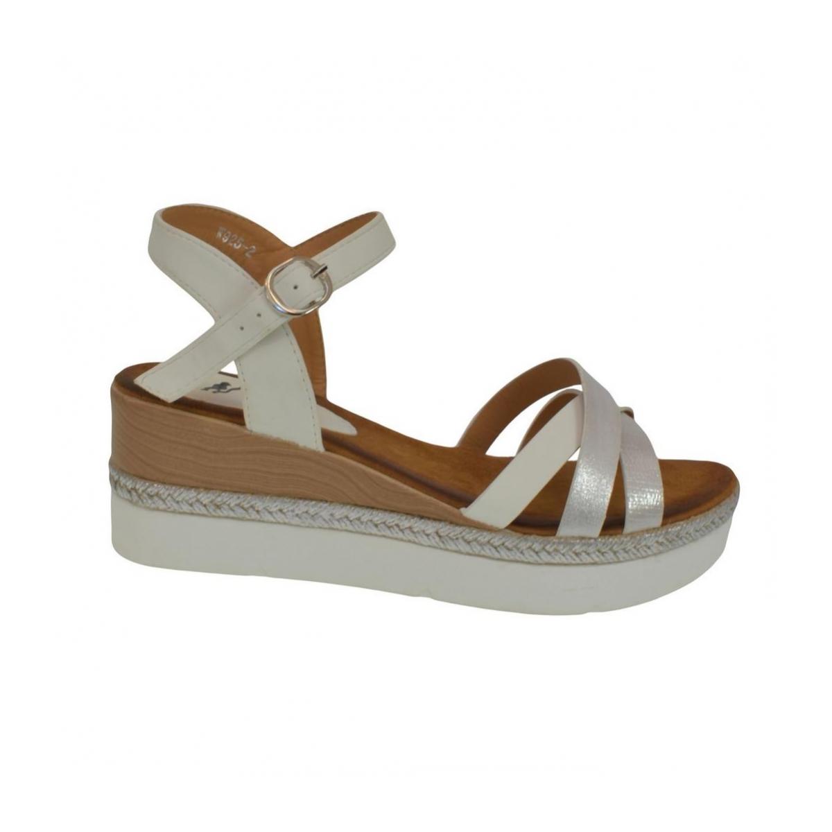 2a8258492cbd Dámske biele sandále RILLA - 4