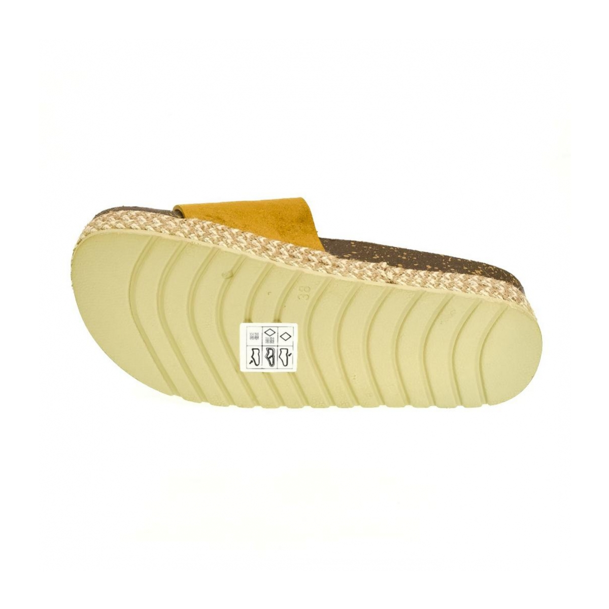 b7d8f7717e13 Dámske žlté šľapky FLOWIE - 6