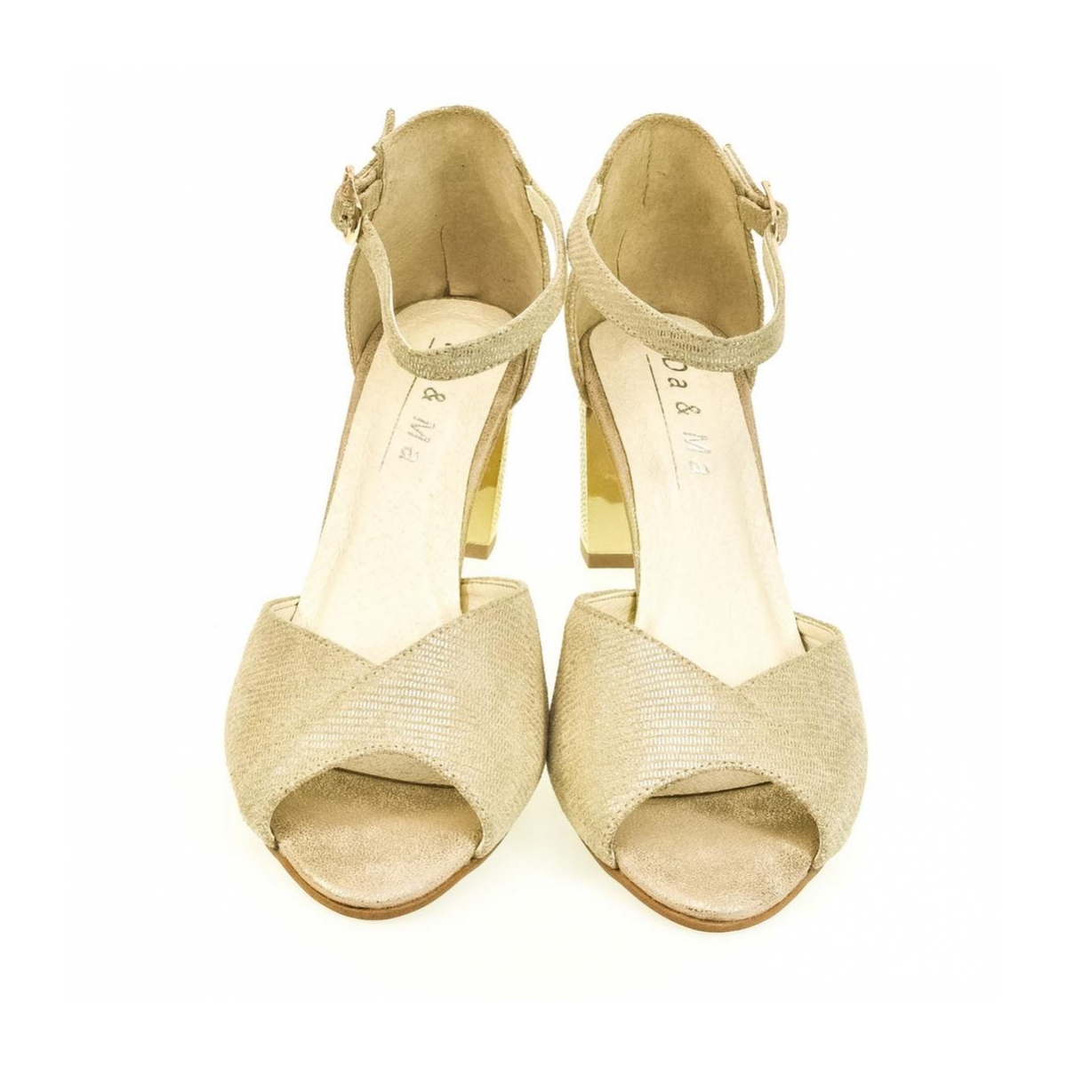 348c41082da7 Dámske zlaté sandále ENNI - 5
