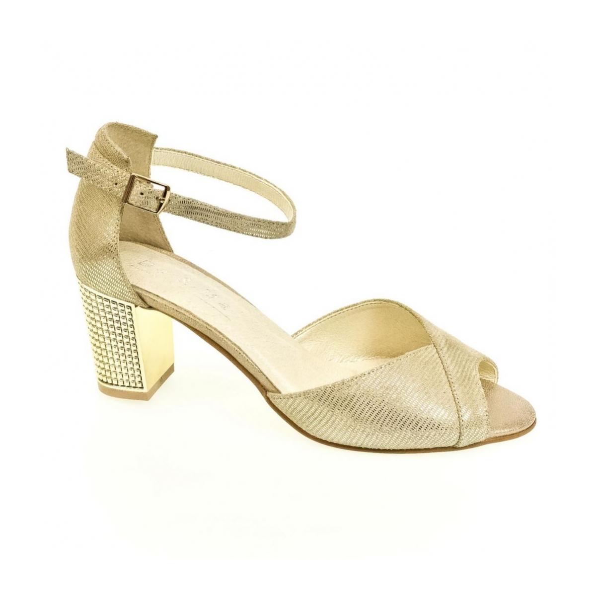 b5835e004ab8 Dámske zlaté sandále ENNI - 7