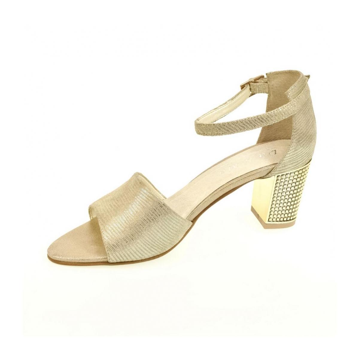 3c2a3fdae4b4 Dámske zlaté sandále ENNA - 5