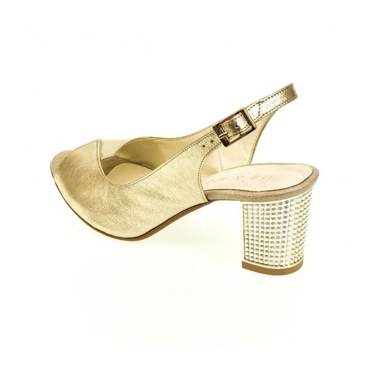 2946ba1d500c Dámske zlaté sandále JOLANA - 3