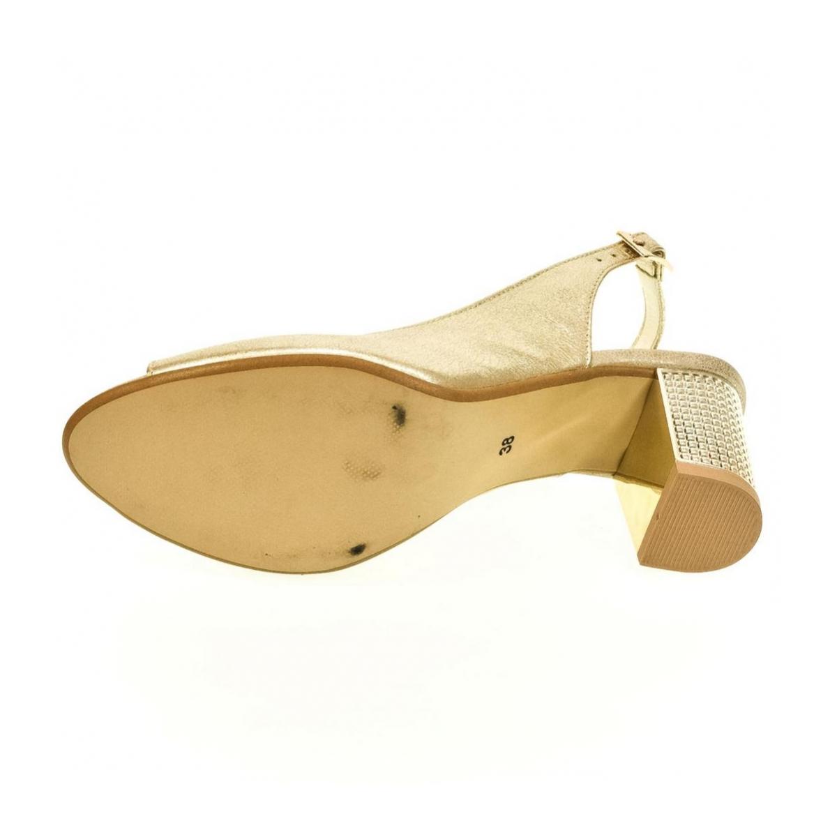 887b418c386e Dámske zlaté sandále JOLANA - 4