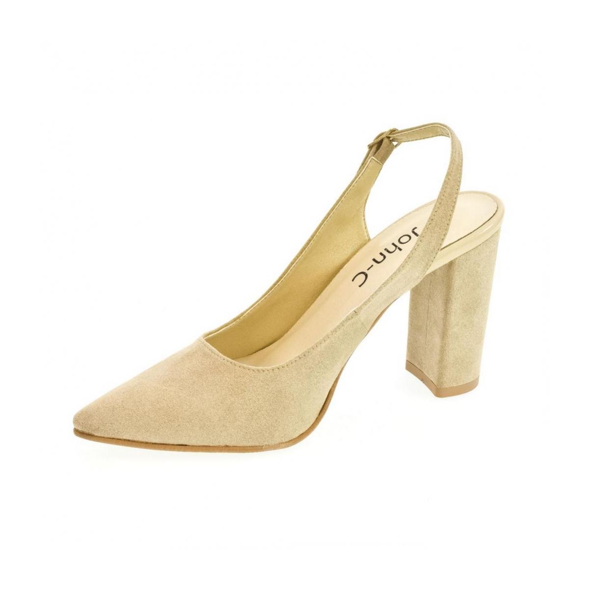 51b8305252 Dámske béžové sandále ELISSA - 5