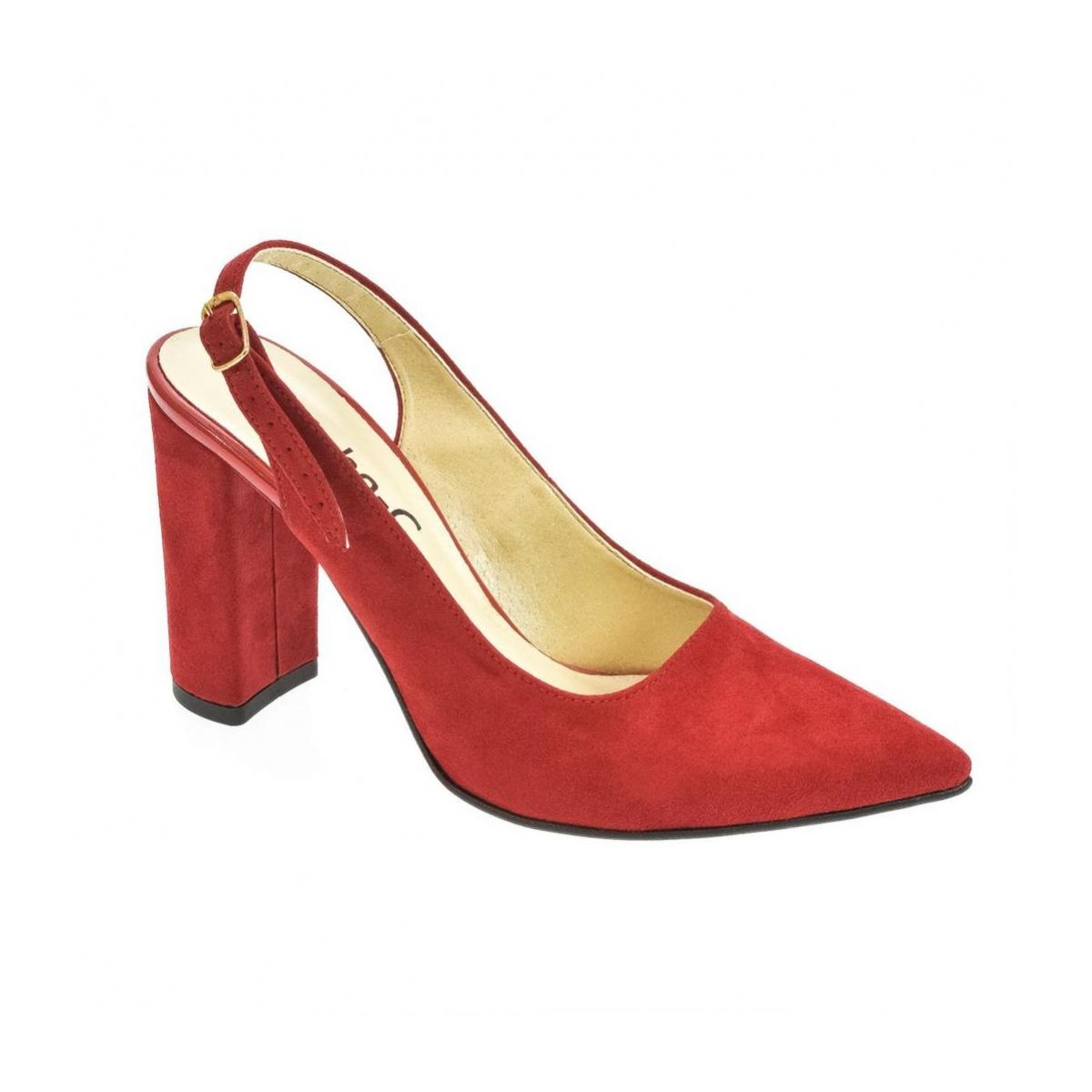 7698245558 Dámske červené sandále ELISSA - 4