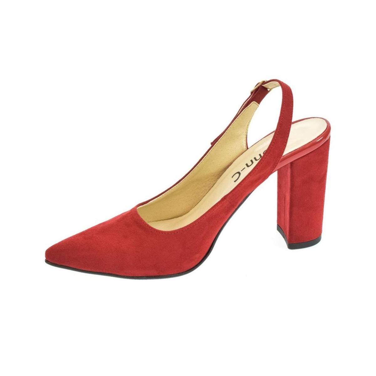 c3a806f696 Dámske červené sandále ELISSA - 5