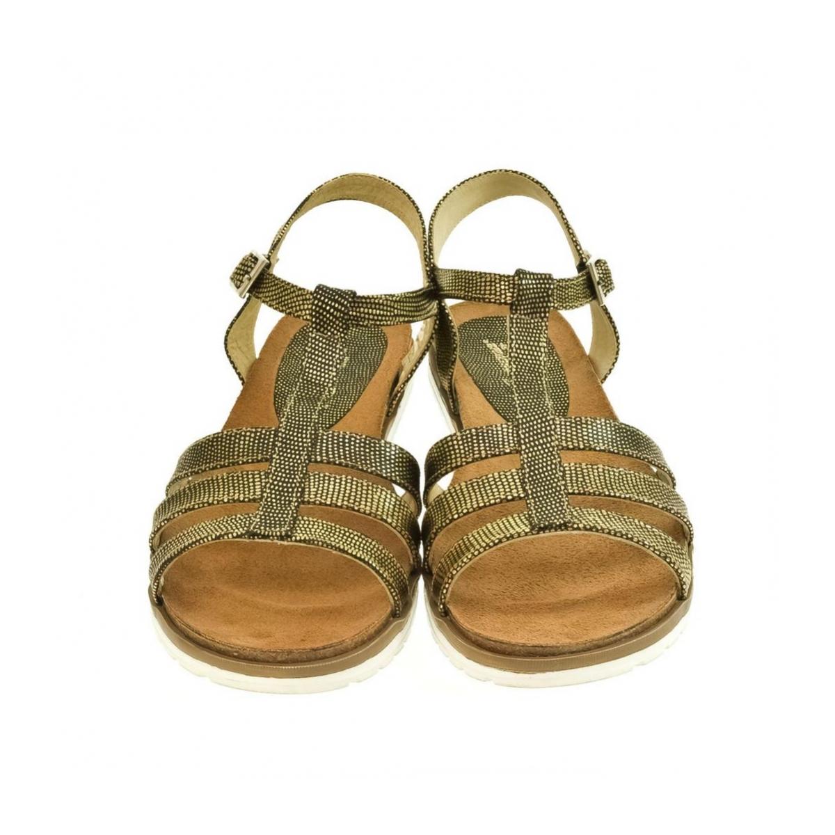 27c1ac0206e80 Zlaté kožené nízke sandále LEA | Johnc.sk