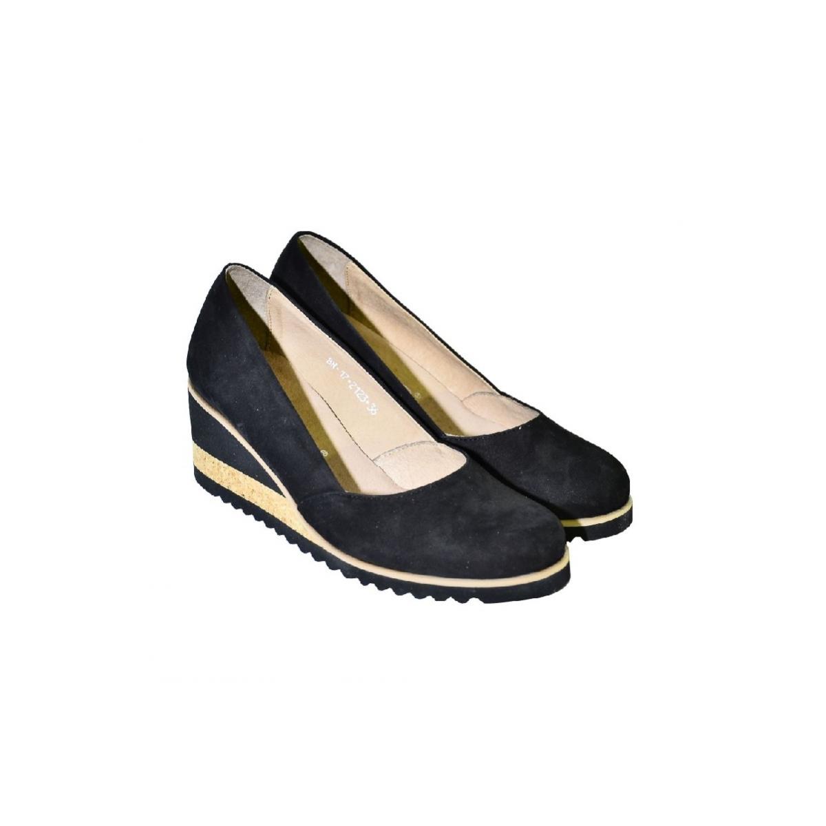 c590c88377 Kožené čierne topánky na vysokom opätku Karino - 3