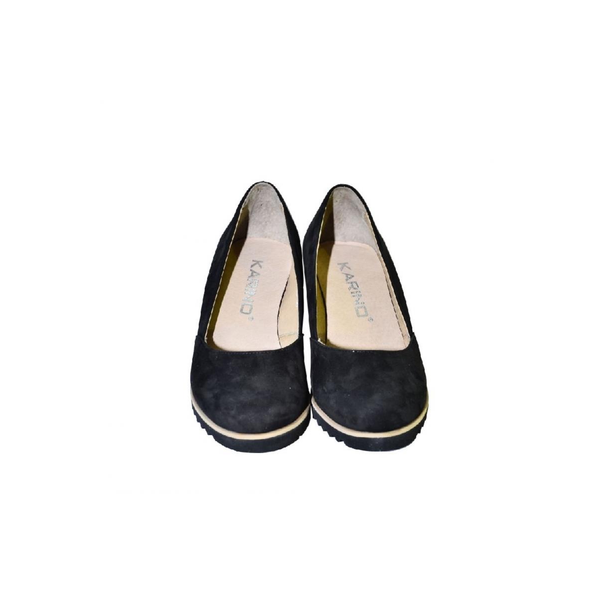 804b5a0c55 Kožené čierne topánky na vysokom opätku Karino - 5