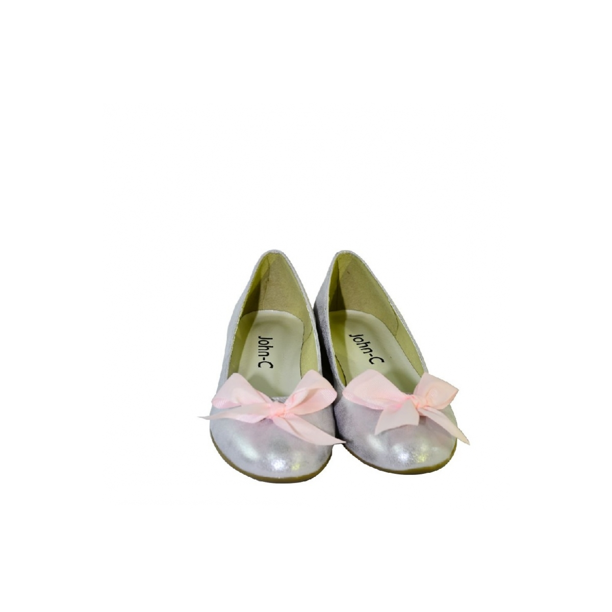 1f35ca29762e Ružové baleríny na nízkom opätku John C - 4