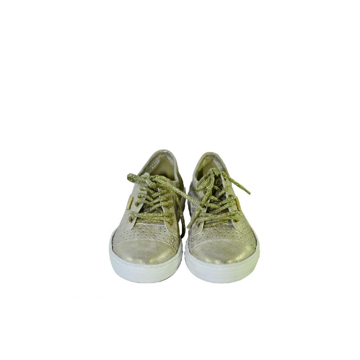 6176c0efe2 Zlaté topánky so šnurovaním bez opätku - 4
