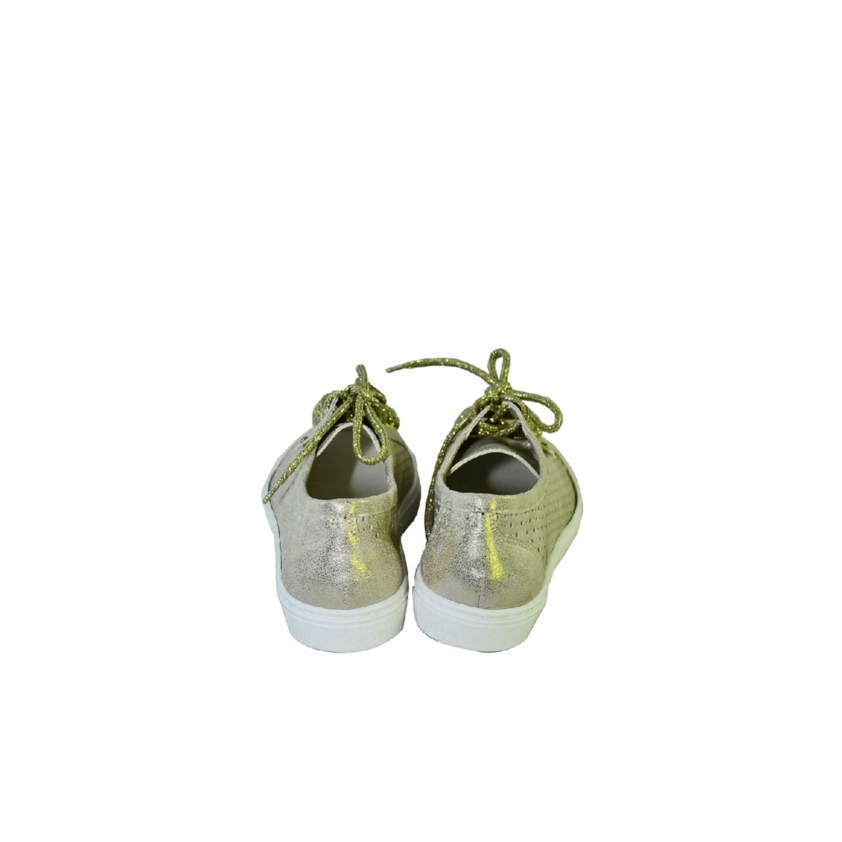 c97a0453db Zlaté topánky so šnurovaním bez opätku - 5