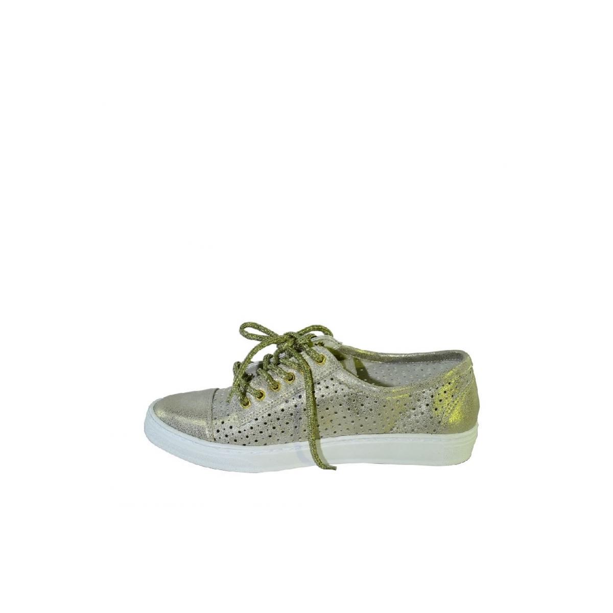 b68b5e6432 Zlaté topánky so šnurovaním bez opätku - 6