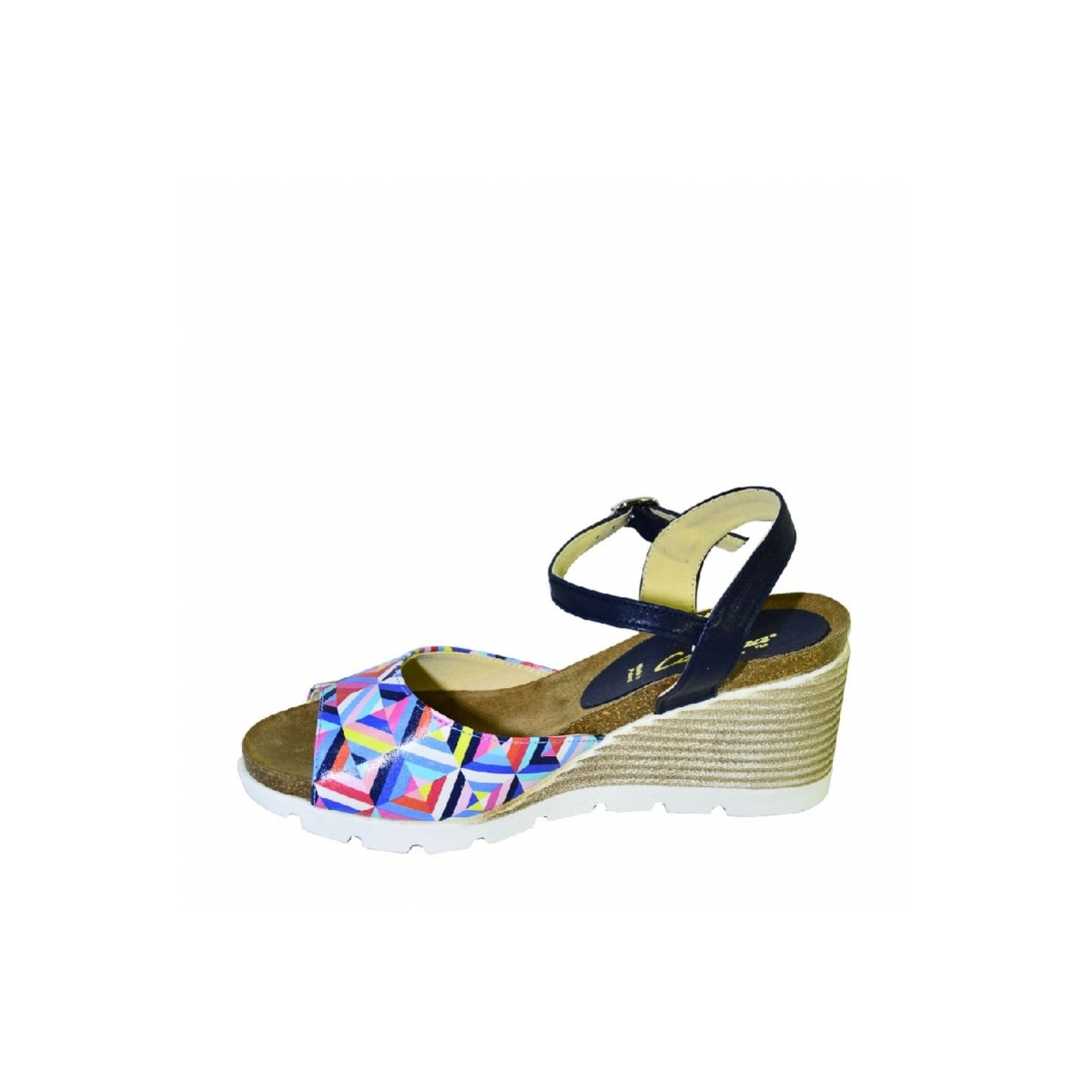 fb4dc8e60aff Farebné kožené sandále na klinovom opätku Carsona TARA - 6