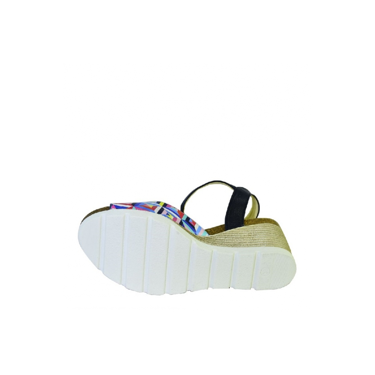 9861e8869a6a Farebné kožené sandále na klinovom opätku Carsona TARA - 7