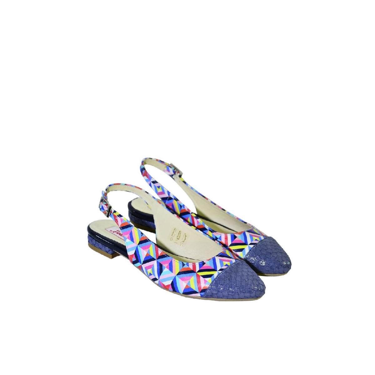 f21a97061 Modré farebné sandále bez opätku Carsona MIRI | Johnc.sk