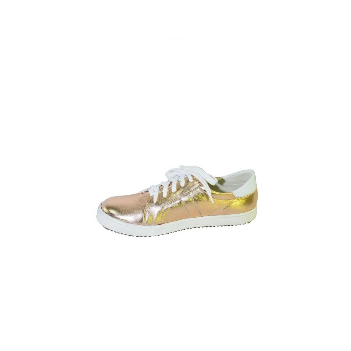 e165e85f321a Zlato-ružové kožené topánky na šnurovanie ENVISA - 6