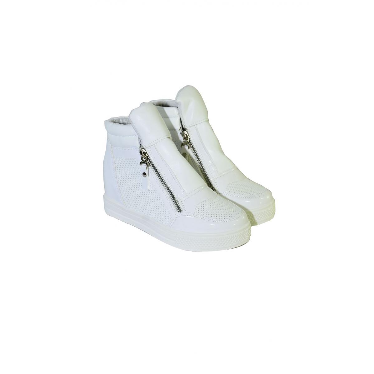 00fed3dc0789 Dámske biele tenisky NOVELY - 2