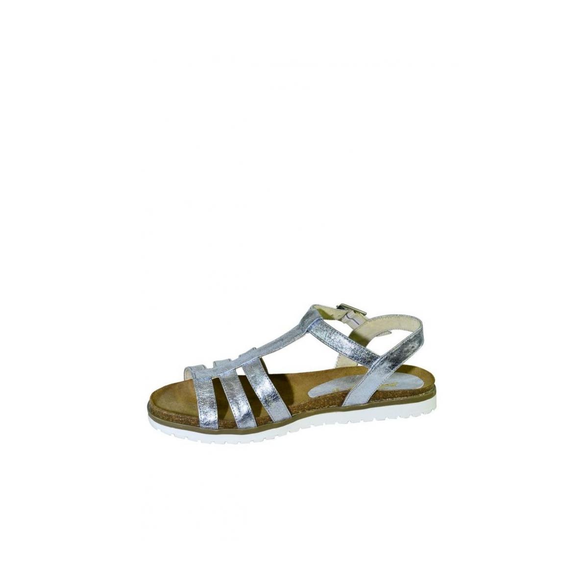 ee4700dad0ea Strieborné kožené nízke sandále LEA - 7