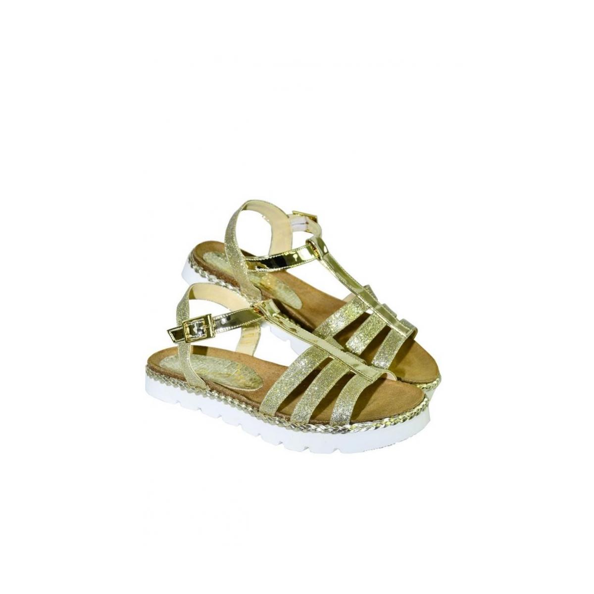 ce8a7207d24f4 Zlaté kožené nízke sandále TARO | Johnc.sk