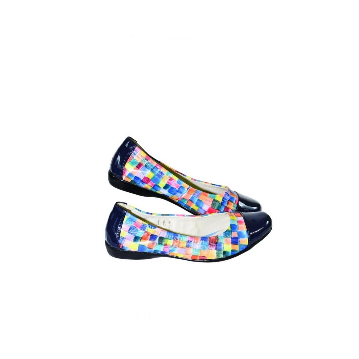 11c7d753083a2 Farebné kožené balerínky VARVARA | Johnc.sk