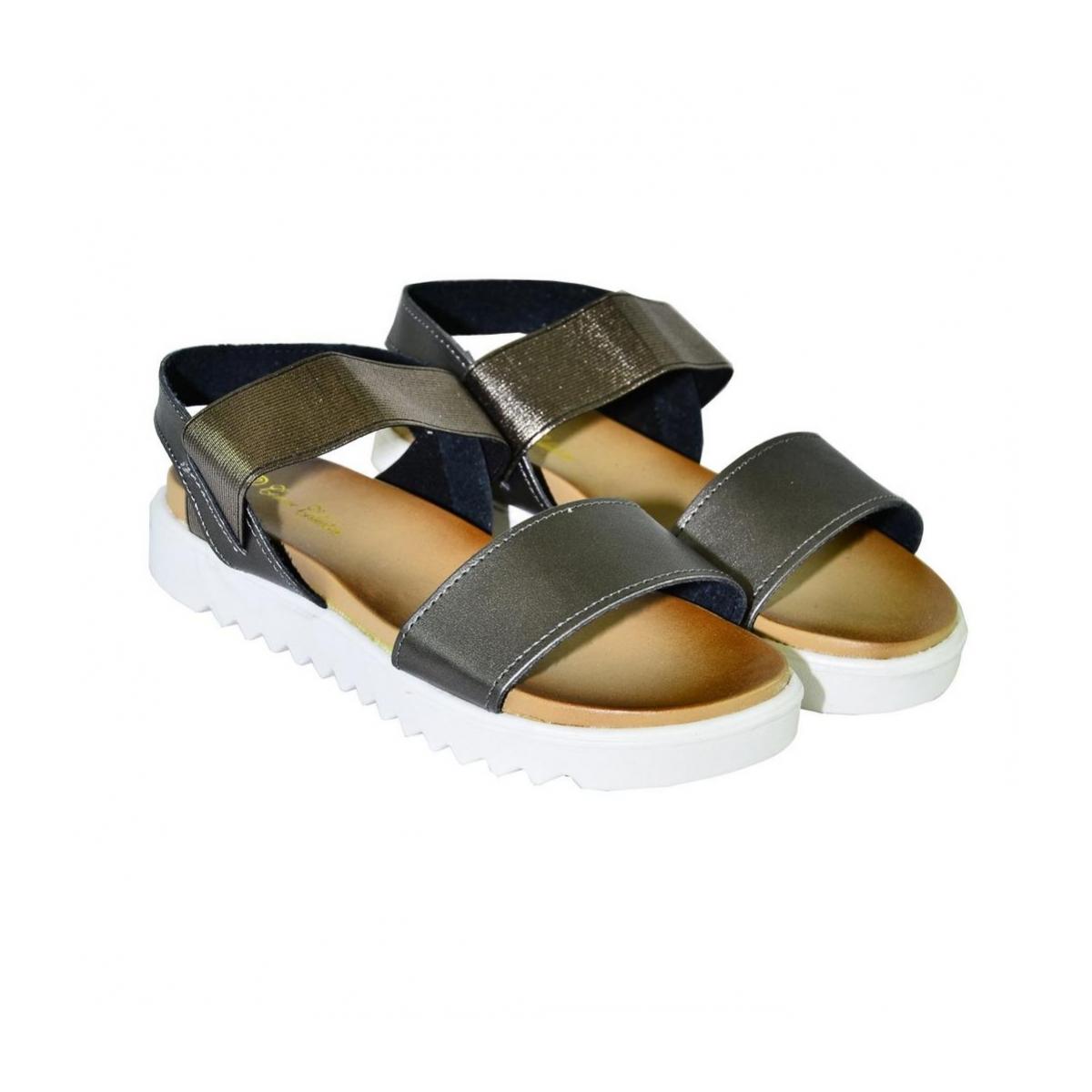 aaf458f0d512 Bronzové sandále na platforme PARTE - 3