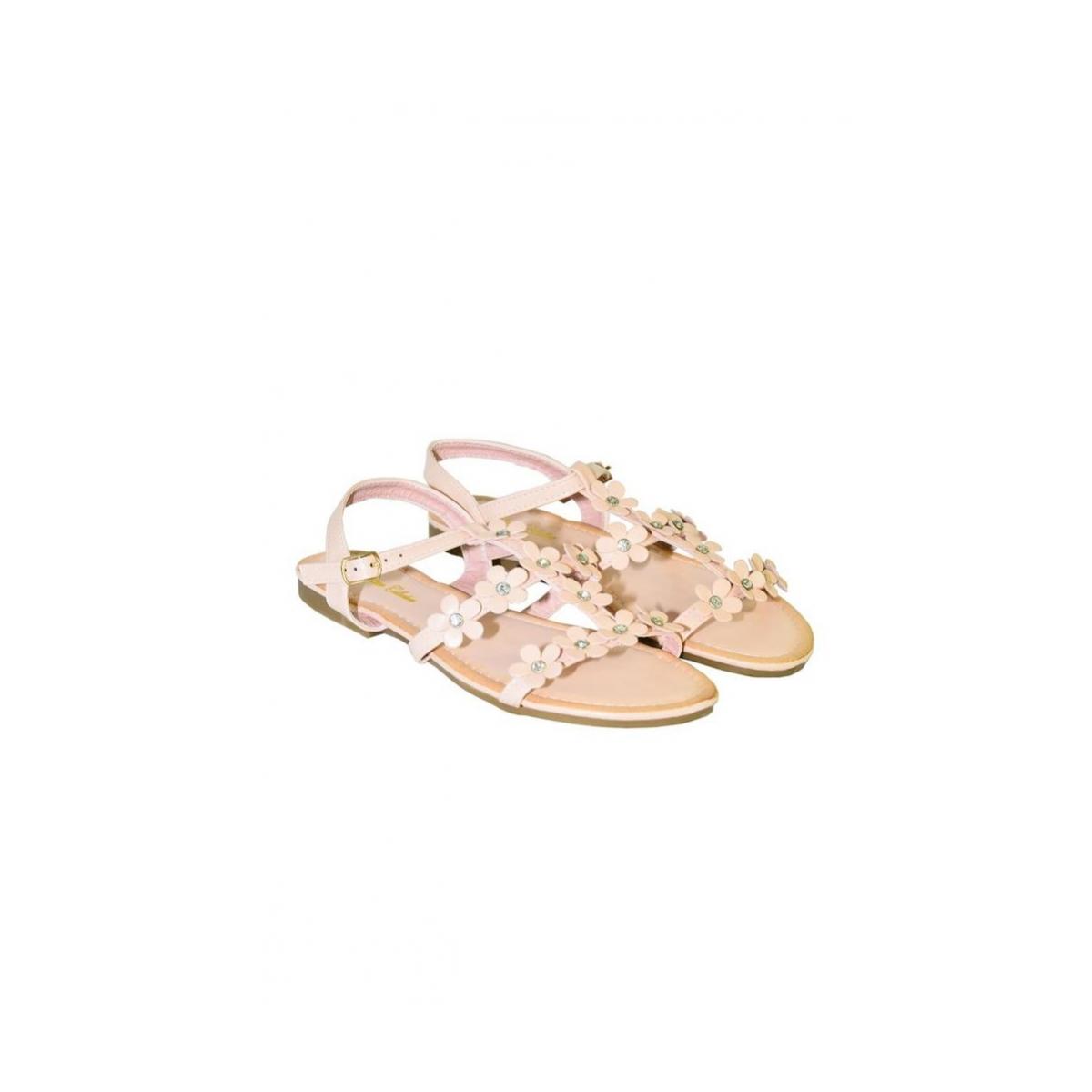 317bc53e935f Ružové kvietkované nízke sandále CARMEN - 3