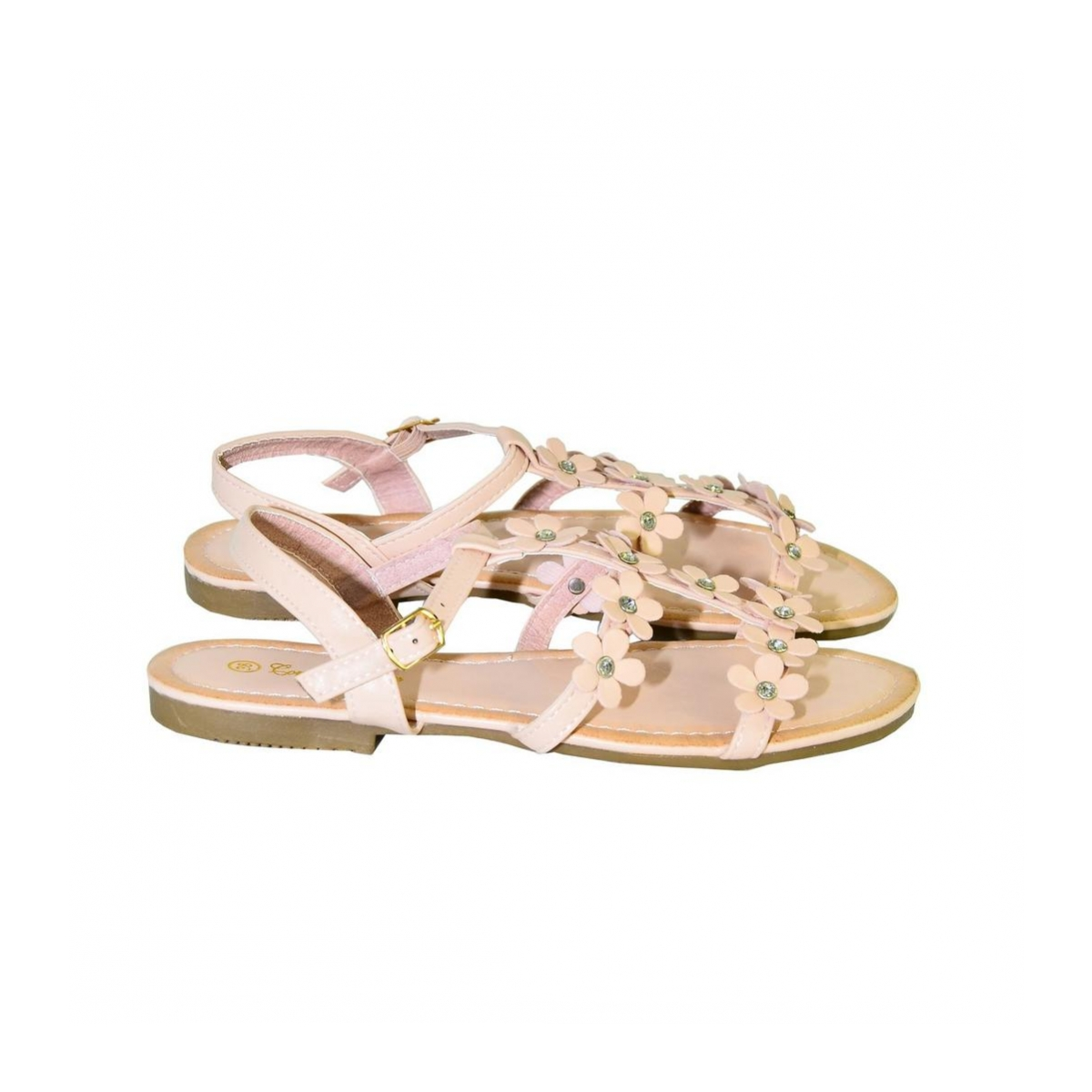 98177cc5ea74 Ružové kvietkované nízke sandále CARMEN - 4