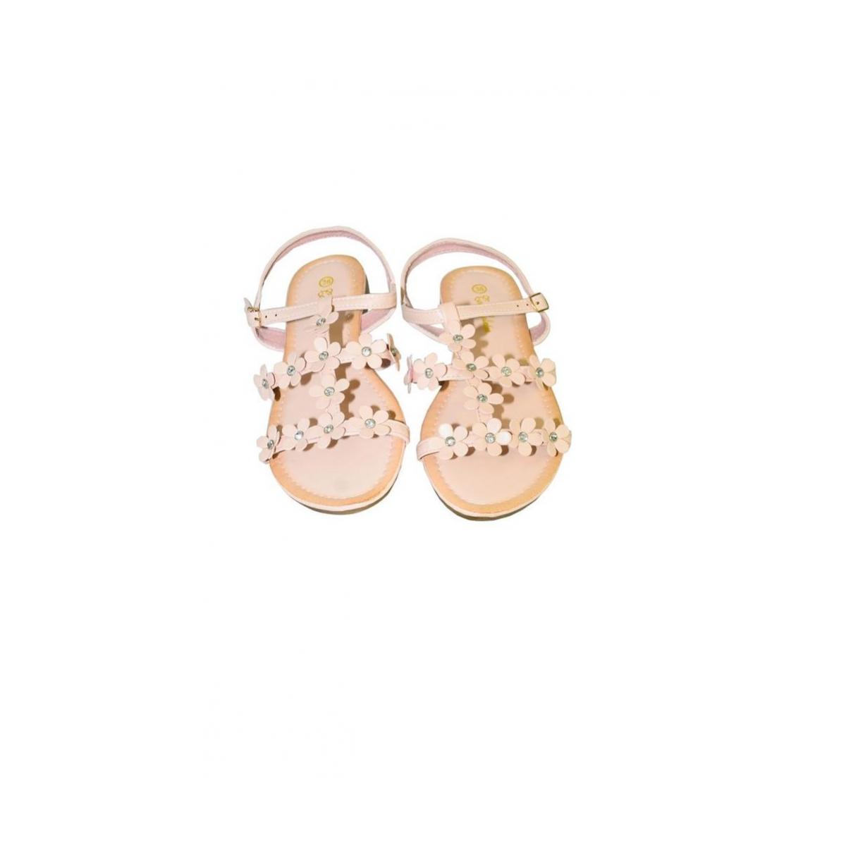 94a13d5e4094 Ružové kvietkované nízke sandále CARMEN - 6