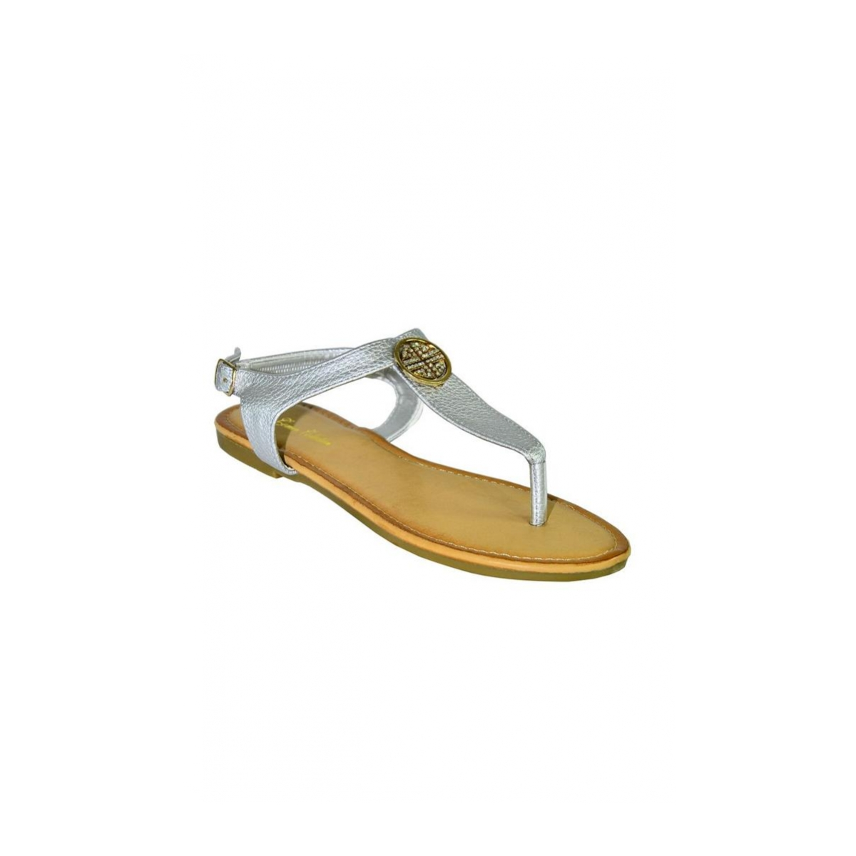 c725b39e0114 Dámske strieborné nízke sandále COCO - 8