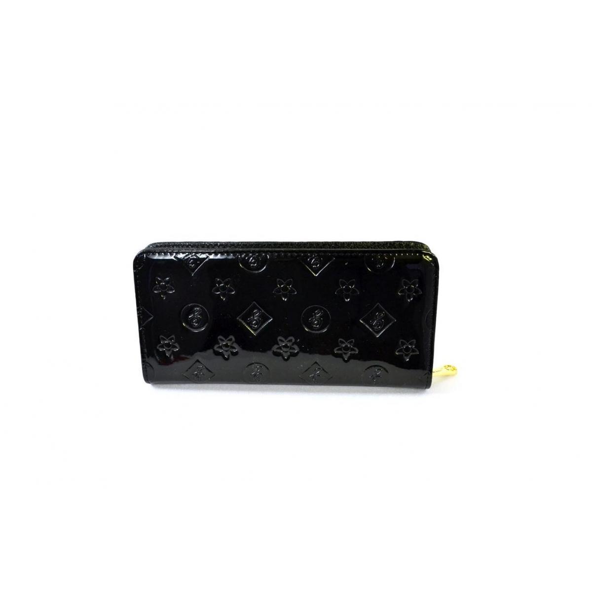 Dámska lesklá čierna peňaženka - 2 e7406d8a688