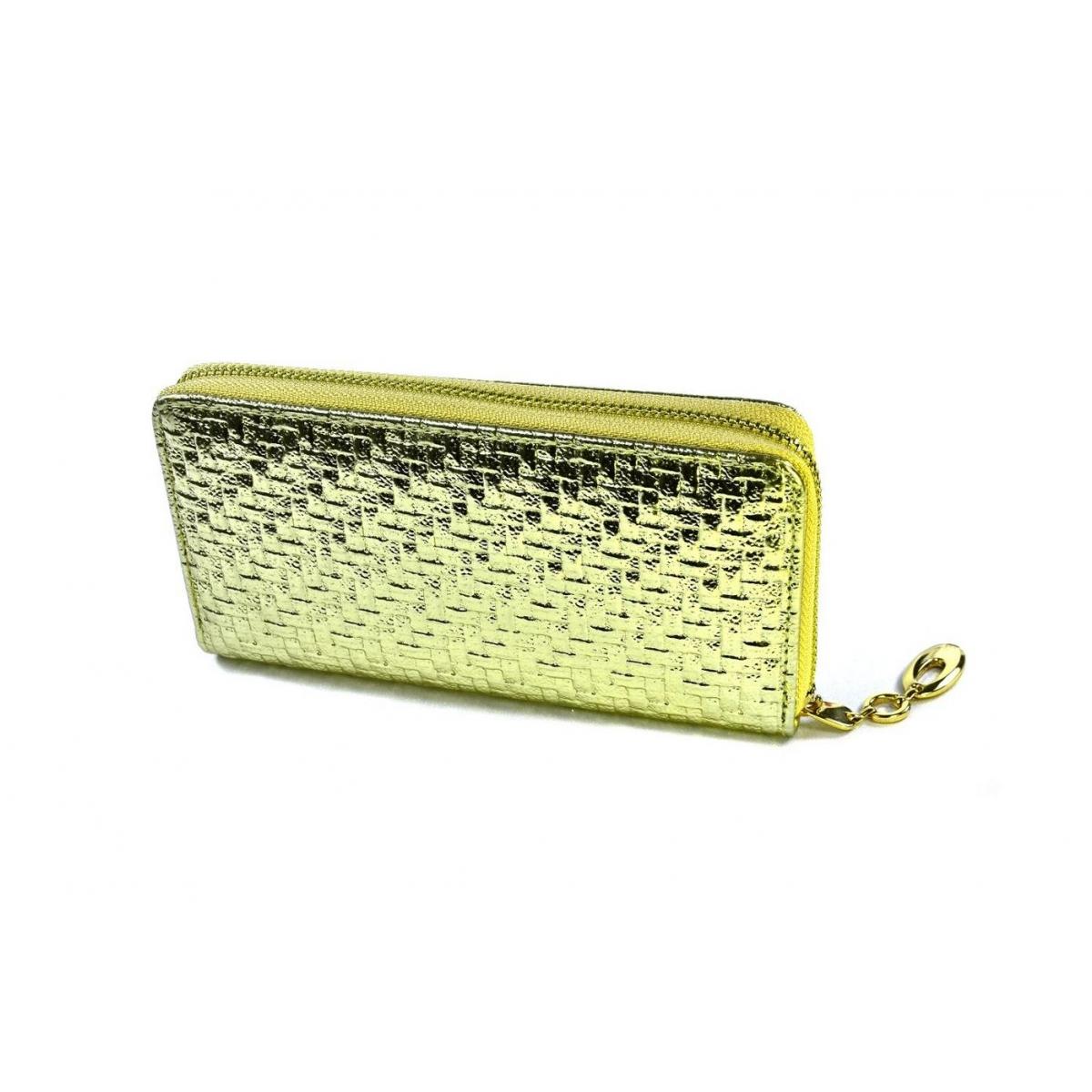 Dámska zlatá peňaženka FIORENTINA - 2 b6bd82e0243