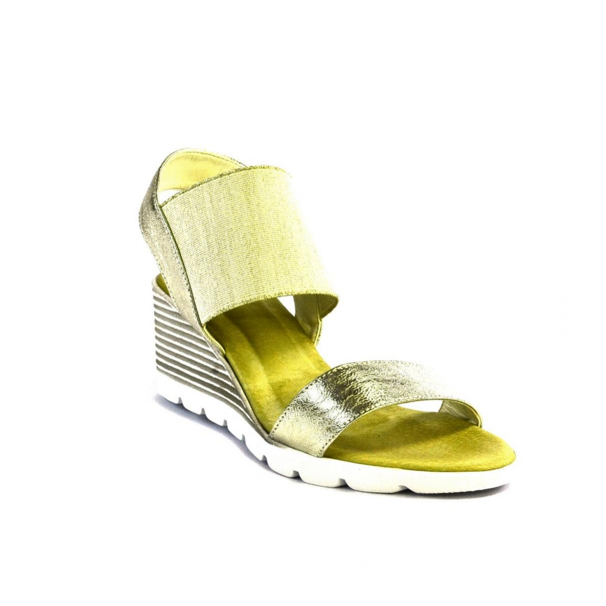 Zlaté kožené sandále na platforme THEA - 5 005b024a603