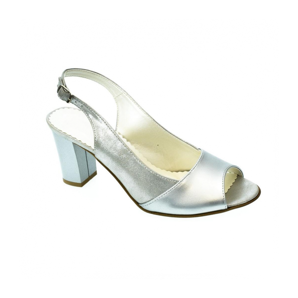 c03b6693b3a6 Dámske strieborné sandále SAINA - 7