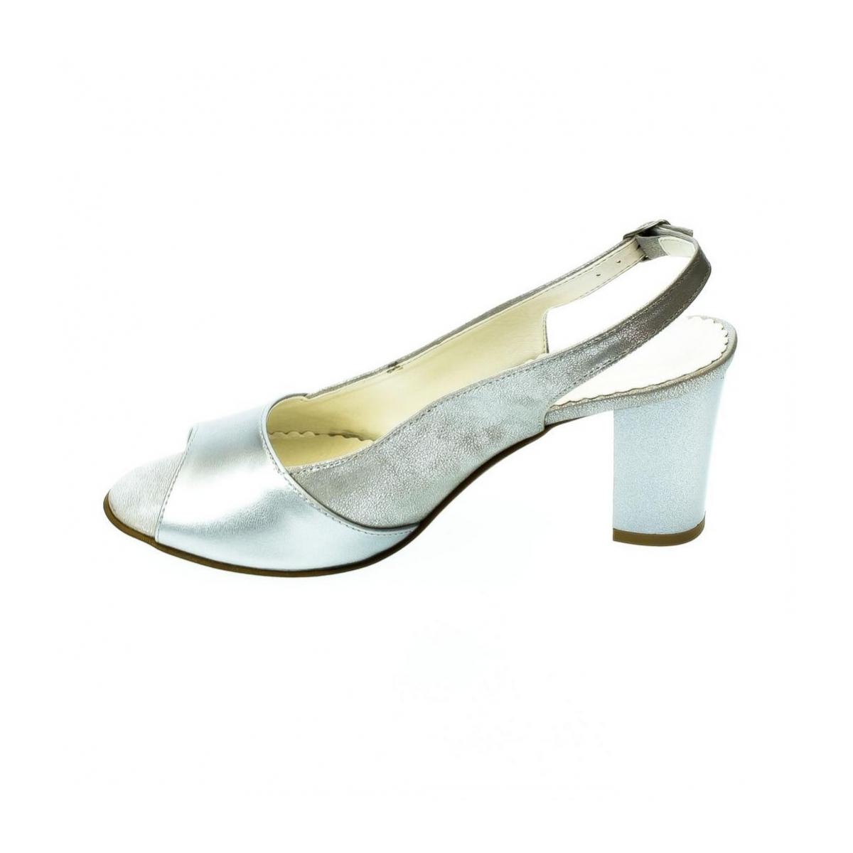 0ca8d8e302a4 Dámske strieborné sandále SAINA - 2