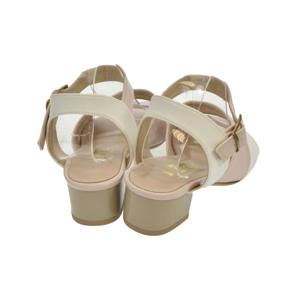 9788e00e650e5 Dámske ružovo-biele sandále ZARI   Johnc.sk