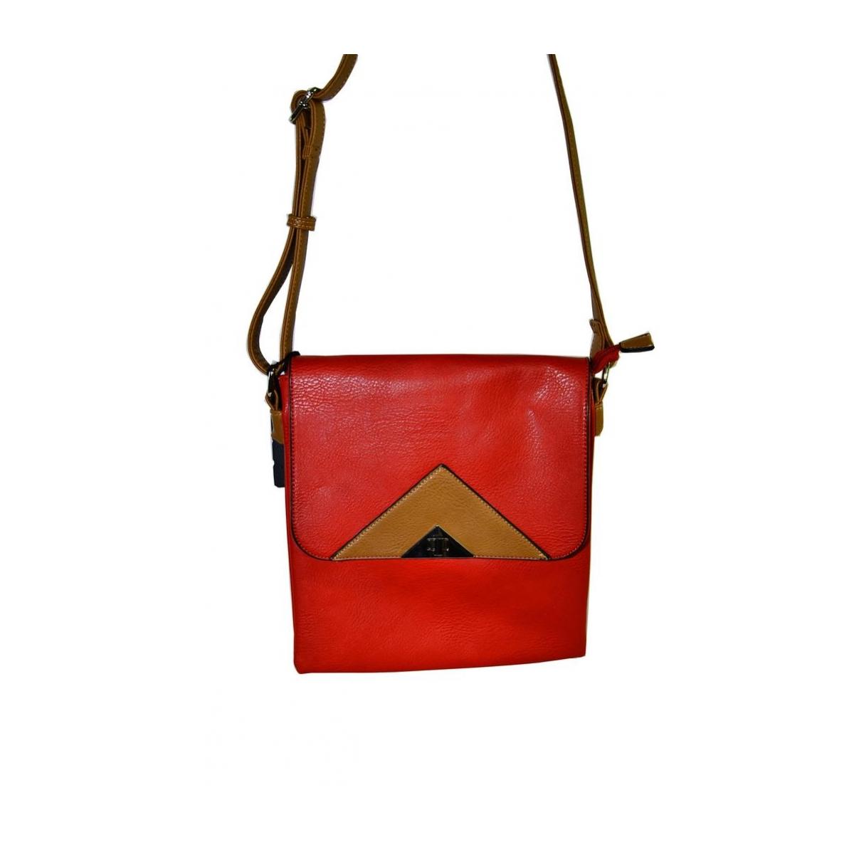 Červeno-hnedá kabelka TRIVER - 2 e49e1752824