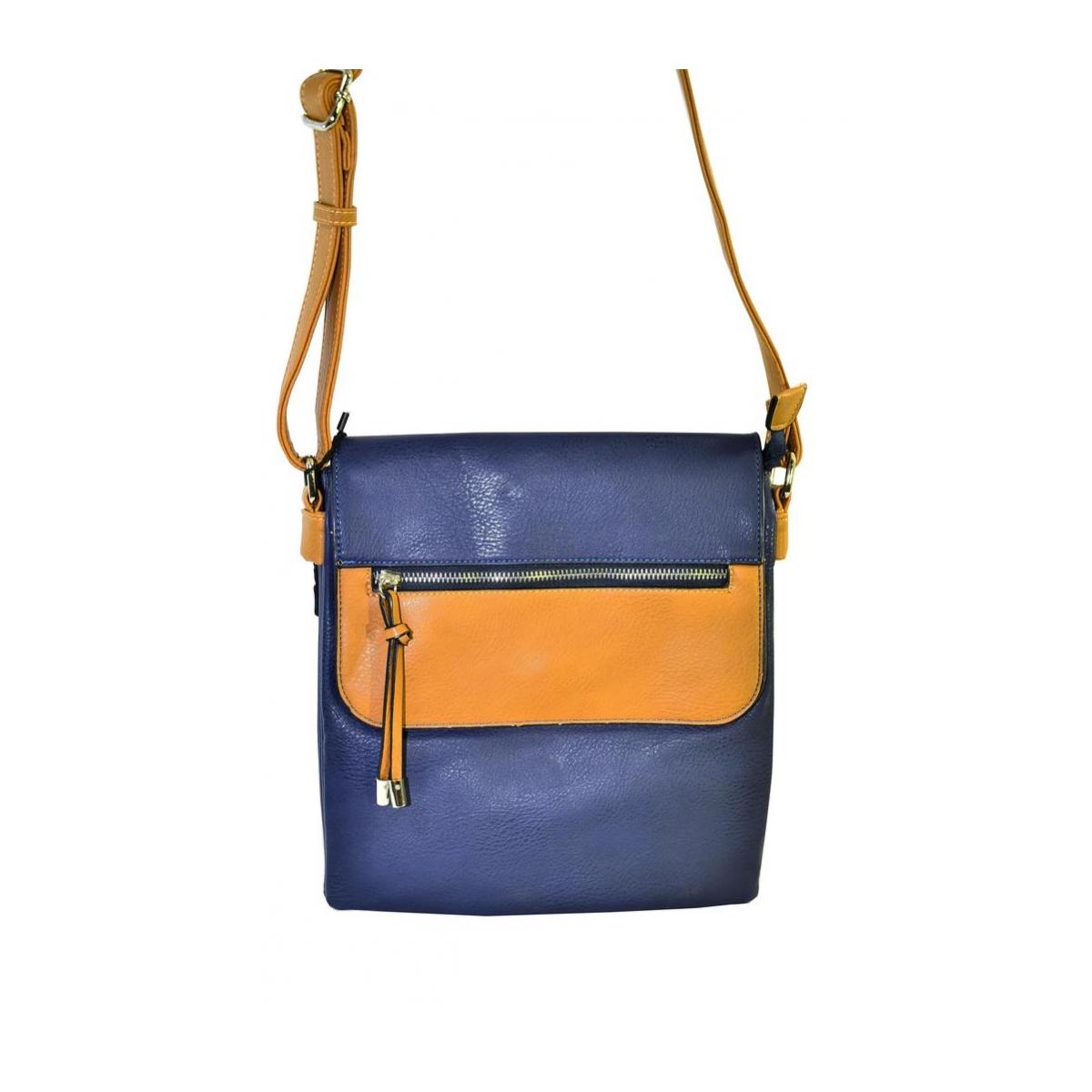 Modro-hnedá kabelka RIGUEZ - 2 f420a39d20a
